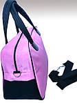 Женская сумка для спорта, 26*46*18 см, розовая, фото 3