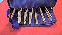 Набор деревянных крючков для вязания