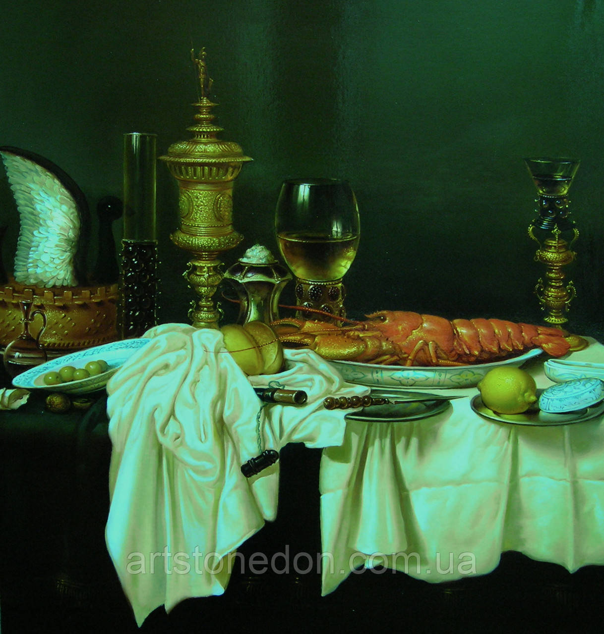 """Копия картины Виллема Класа Хеды """"Натюрморт с раком"""""""