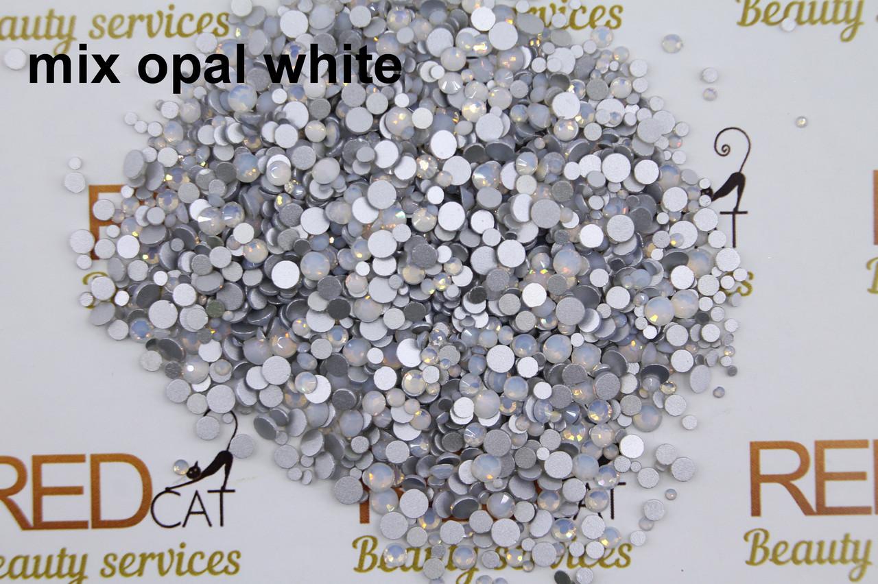Опал белый микс размеров