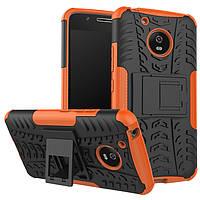 Чехол Motorola Moto G5 Plus / XT1685 противоударный бампер оранжевый