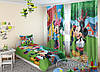 "Детские ФотоШторы ""Микки и Минни Маус"" 2,5м*2,9м (2 полотна по 1,45м), тесьма"