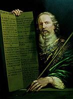 Картины маслом на холсте. Копия картины Филиппа де Шампаня Пророк Моисей со скрижалями Закона