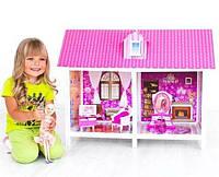 Кукольный домик две комнаты,мебель+кукла 66882