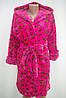 Махровый женский халат на запах S, M, L розовый