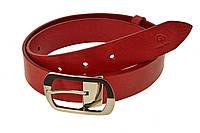 Кожаный ремень женский Domenica , красный