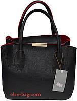 Женская сумка из эко кожи с планочкой спереди, фото 1