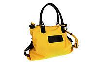 Сумка женская, текстиль, желтая, 42х45 см.