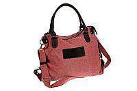 Сумка женская, текстиль, красная, 42х45 см.