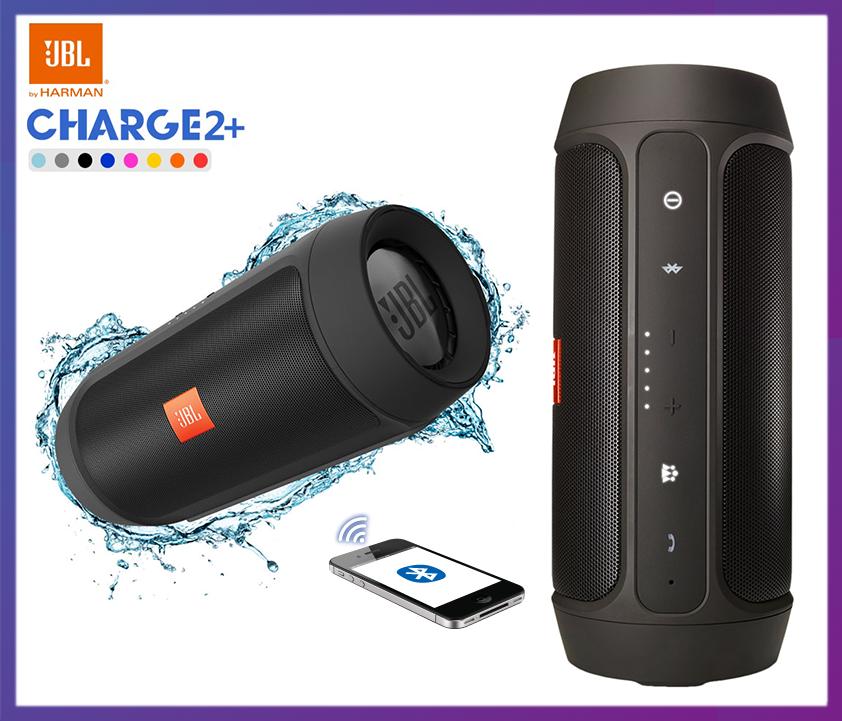 Влагозащитная беспроводная Bluetooth колонка JBL Charge 2+   10 Вт   Bluetooth 3.0