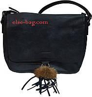 Женская сумка с натуральны пушком