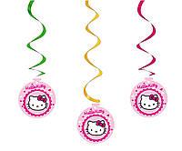 """Гирлянды подвески бумажные """"Hello Kitty"""". В упак: 5 штук."""