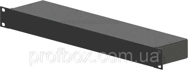 Корпус металевий Rack 1U, модель MB-1100S (Ш483(432) Г102 В44) чорний, RAL9005(Black textured)