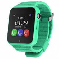 Детские часы с gps трекером V7K зеленые с Камерой