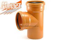 Тройник 200*110*87° для наружной канализации