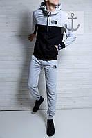 Спортивный костюм мужской серый ТНФ the north face