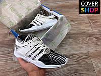 Кроссовки мужские adidas Equipment, черно - белые, материал-замша+сетка, подошва - пенка