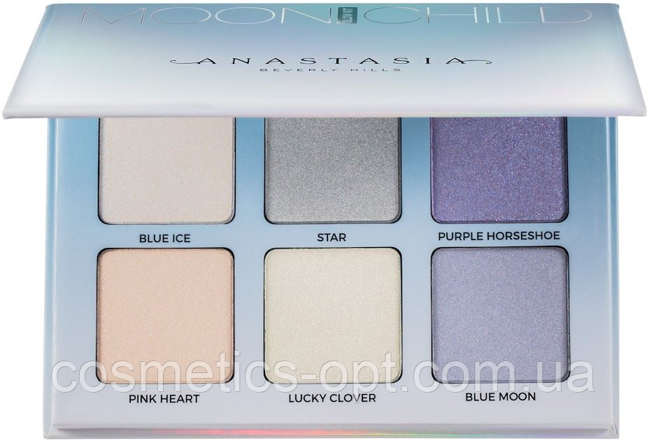 Палетка хайлайтеров Anastasia Beverly Hills Glow Kit Moonchild (Blue 6 color) (реплика)