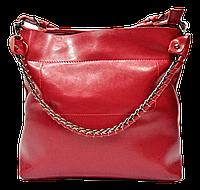 Женская сумка из натуральной кожи красного цвета BBN-085366, фото 1