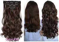 Волосы трессы на заколках ТЕРМО 7 прядей №4м длина 50см