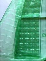 Зеленая штора для ванной голограмма (виниловая), фото 2