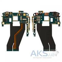 Шлейф для HTC G21, X310e Titan, X315e Sensation XL c кнопками звука, межплатный, кнопками включения, коннектором наушников и компонентами