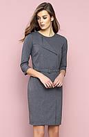Женское офисное платье Seta Zaps серого цвета. Коллекция осень-зима