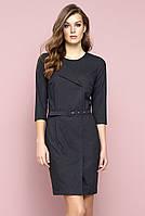 Женское офисное платье Seta Zaps цвета графит. Коллекция осень-зима