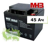 Аккумулятор MHB гелевый 45Ач 12В, GEL, модель-MNG45-12 (для автономных солнечных электростанций)