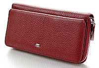 Женский кожаный кошелек клатч ST на молнии с визитницей, фото 1