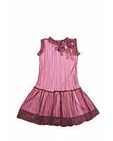 Красивое платье фирмы Byblos. 2- х слойное- внутри розовый трикотаж, сверху прозрачная ткань в складку