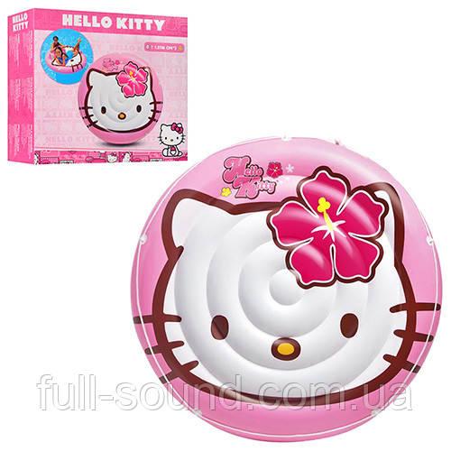 Детский надувной плотик hello kitty