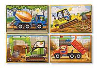 Строительные машины - набор из 4 пазлов Melissa & Doug