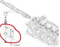 Клапана выпускные Дачия Логан  К9К 1.5ДCi 01> (комплект 4 шт.)7701476572
