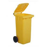 Контейнер для мусора желтый 120л TTS Италия
