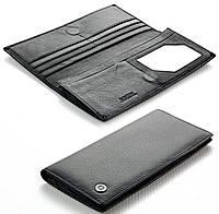 Мужской кожаный кошелек купюрник Boston на магните, фото 1