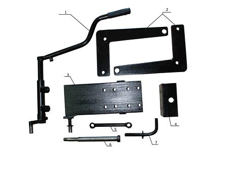 Комплект по переоборудованию мотоблока КИТ набор №2(базовый+задний подьемный механизм, 4 болта, мех), фото 2