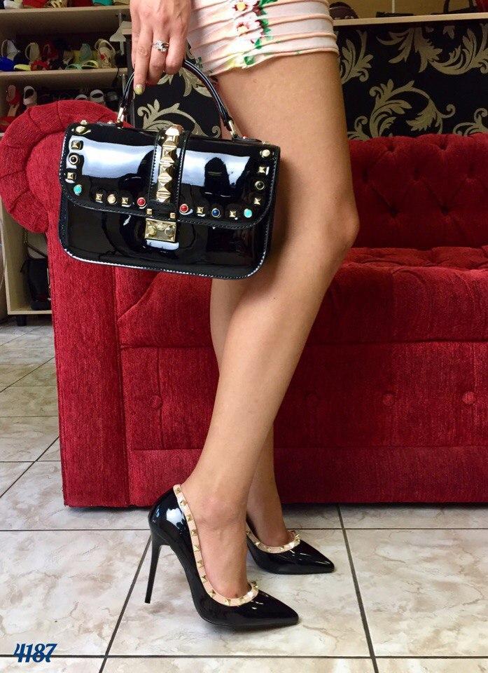 Туфли лодочки в стиле Valentino с шипами - Интернет-магазин Shopogolik ( женская обувь и 0fad31461c4
