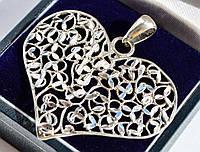 Очаровательная,стильная подвеска,кулон! Сердце! Серебро! ITALY!