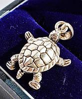 Очаровательная,стильная подвеска,кулон! Черепаха! Серебро! ITALY!, фото 1