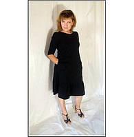 Платье женское  миди однотонное в 12-ти цветах трикотажное