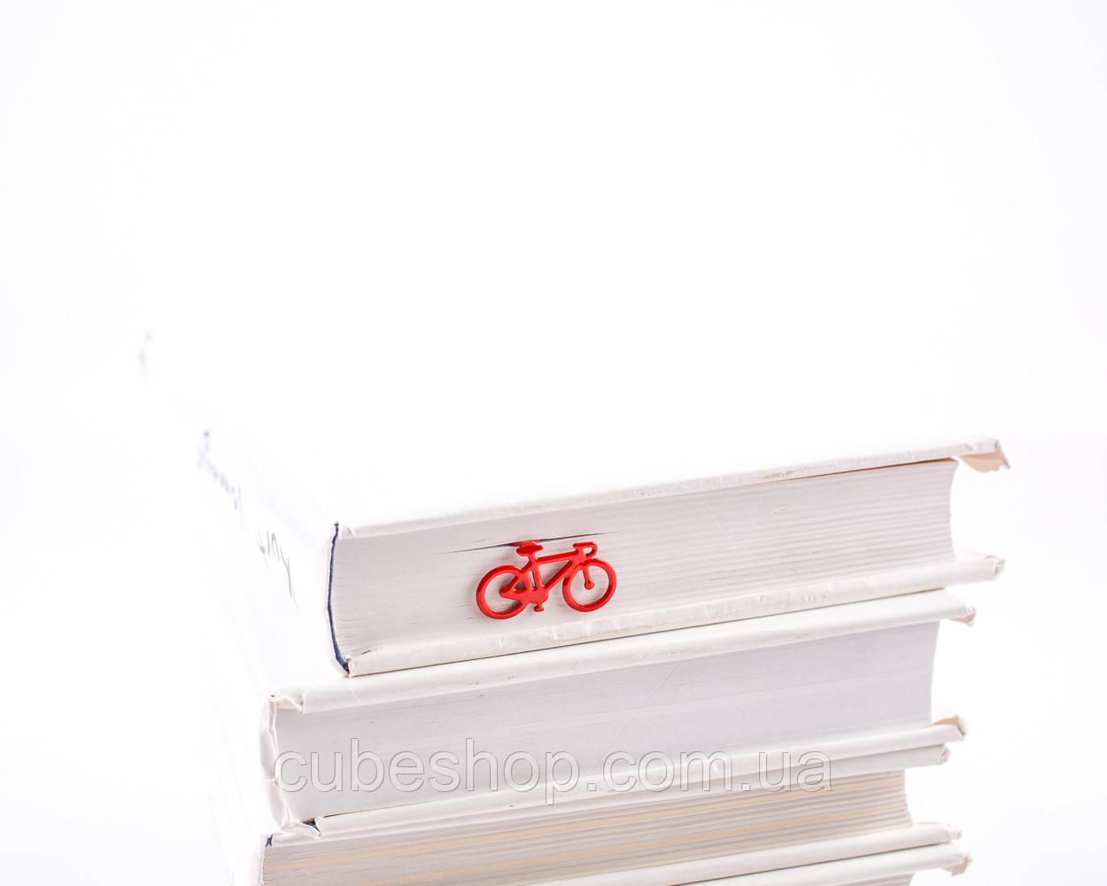 Закладка для книг Велосипед (красный)