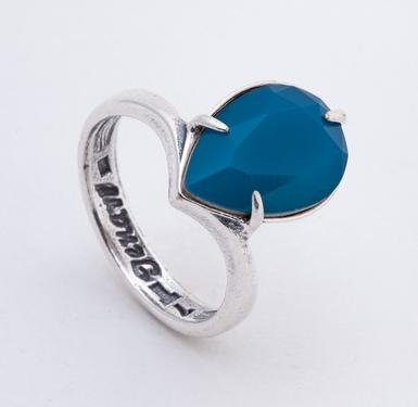 """Кольцо """"SW Остия"""" с кристаллами Swarovski, покрытое серебром (r6743040)"""