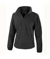 Женская флисовая куртка на молнии черная 220-36