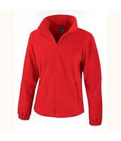 Женская флисовая куртка на молнии красная 220-40