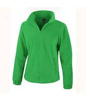 Женская флисовая куртка на молнии зеленая 220-47