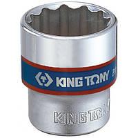 "Головка 3/8"" 12гранн. 17мм KING TONY 333017M, фото 1"