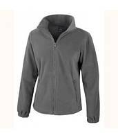Женская флисовая куртка на молнии темно-серая 220-GL