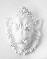 Настенный декор Голова Льва (белый)