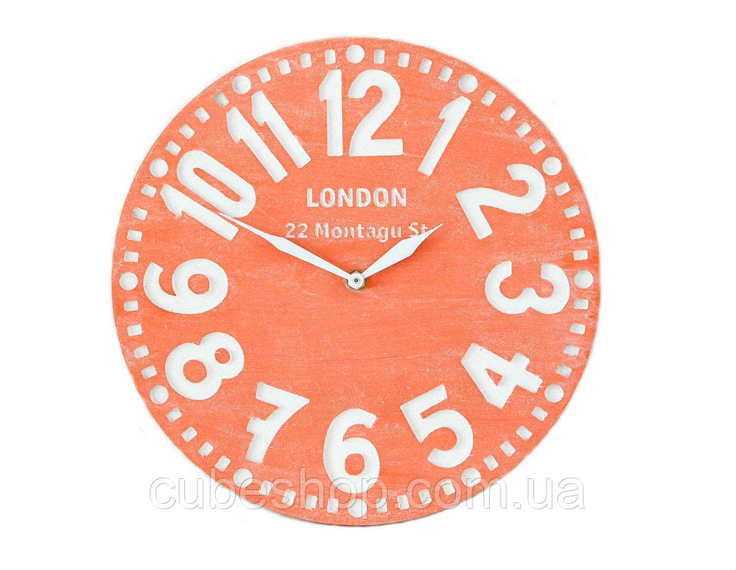Настенные часы Лондон (коралловые)